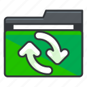arrow, arrows, file, folder, folders, refresh icon