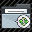 arrow, arrows, file, folder, folders, refresh icon