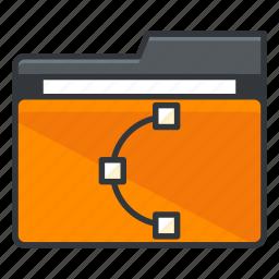 design, file, folder, folders, graphic, shape icon