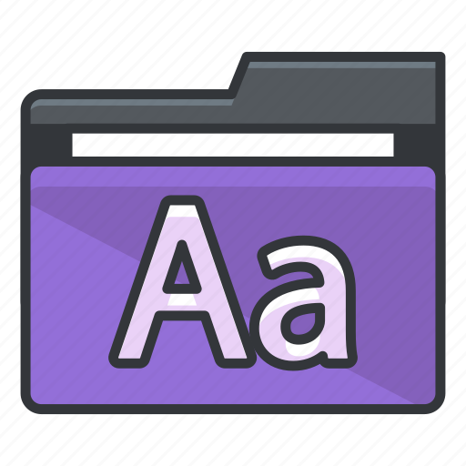 alphabet, file, folder, folders, text icon
