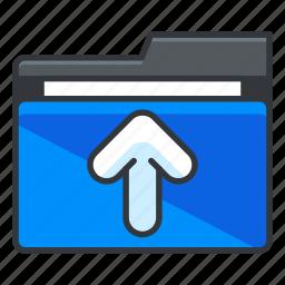 arrow, folder, folders, up, upload icon