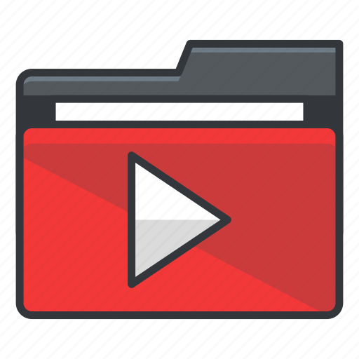 folder, folders, media, multimedia, play, video icon