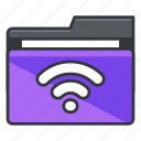 folder, folders, internet, wifi, wireless icon