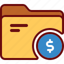 business, directory, dollar, finance, folder, money, office icon