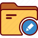 directory, edit, folder, office, pencil