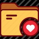 directory, favorite, folder, like, love, office icon