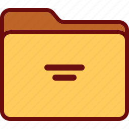 directory, folder, office, yellow icon