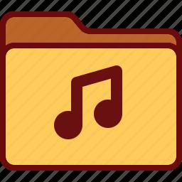 audio, directory, folder, music, office icon