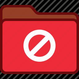 block, directory, error, folder, office, red icon