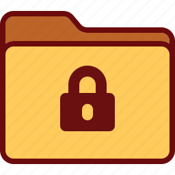 block, directory, folder, lock, office, security icon