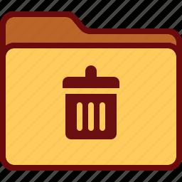 bin, directory, folder, office, trash icon