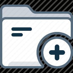 add, directory, folder, office, plus icon