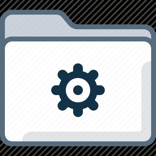 directory, folder, gear, office, settings icon