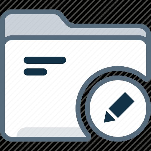 directory, edit, folder, office, pencil icon