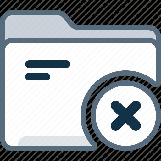 block, cross, delete, directory, folder, office, remove icon