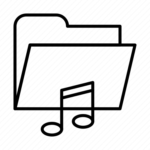 document, documents, file, files, folder, music icon