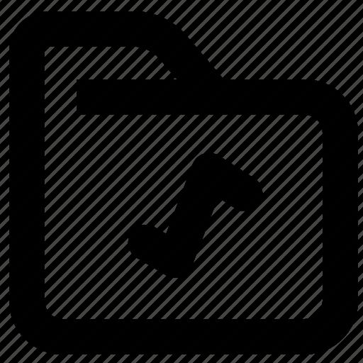 archive, document, file, folder, multimedia, music, office icon