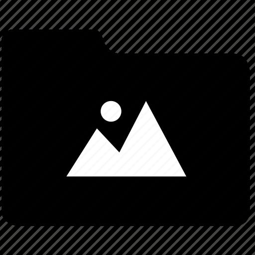 folder, graphic, images, landscape, materials, photo, picture, records icon