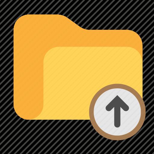 arrow, arrow up, catalog, catalogue, directory, folder, upload icon
