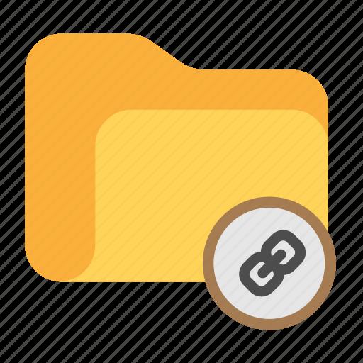catalog, catalogue, directory, folder, link icon