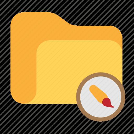 brush, catalog, catalogue, directory, folder, paint icon