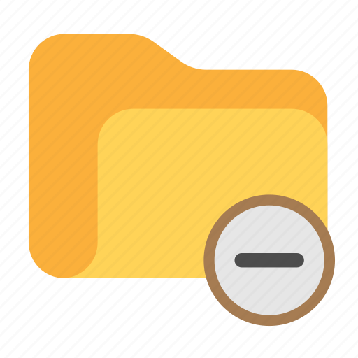 catalog, catalogue, delete, delete folder, directory, folder, minus icon