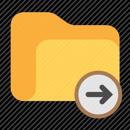 arrow, arrow right, catalog, catalogue, directory, folder icon