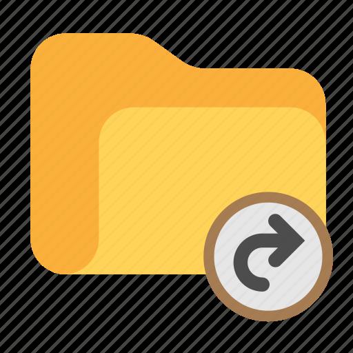 arrow, catalog, catalogue, directory, folder, forward, return icon