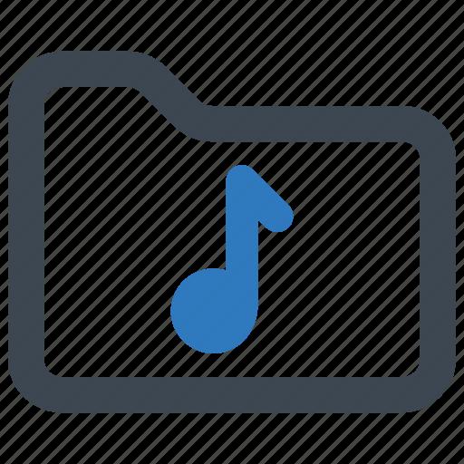 audio, folder, music icon