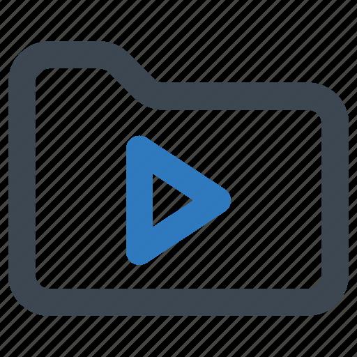 folder, movie, video icon