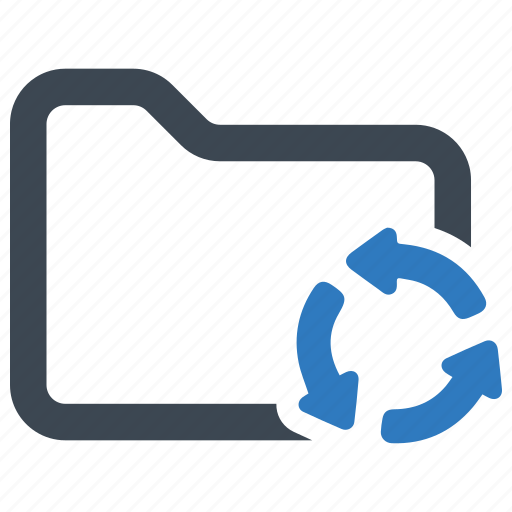 folder, refresh, update icon