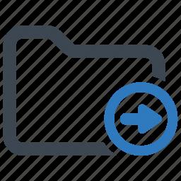 folder, forward, move, right icon