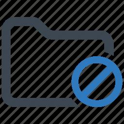 disable, error, folder icon