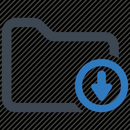 download, file, folder icon