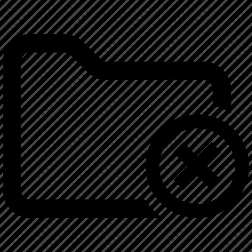 cancel, error, folder icon