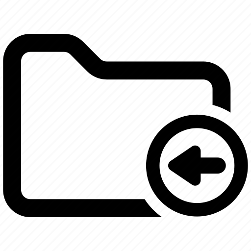 back, folder, move icon