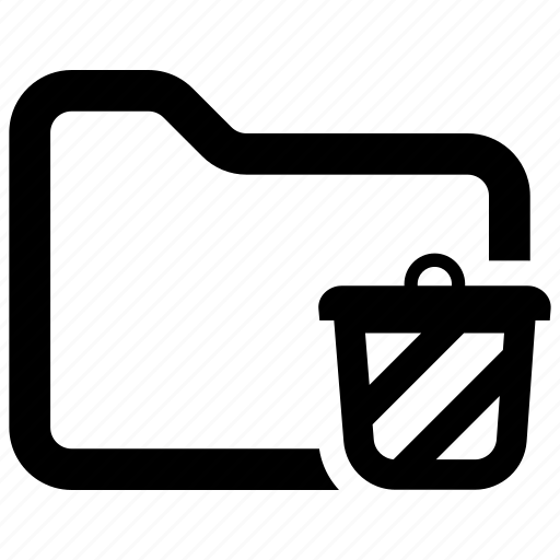 Folder, remove, trash icon - Download on Iconfinder