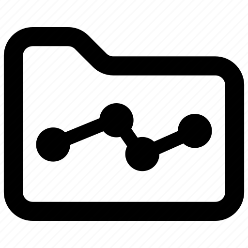 analytics, folder, statistics icon