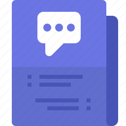 chat, communication, discussion, file, folder, message, yumminky icon