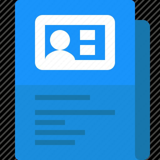 business card, contact, file, folder, yumminky icon