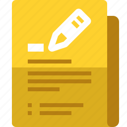 comment, file, folder, notes, scrapbook, writing, yumminky icon