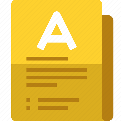 comment, file, folder, font, notes, scrapbook, yumminky icon