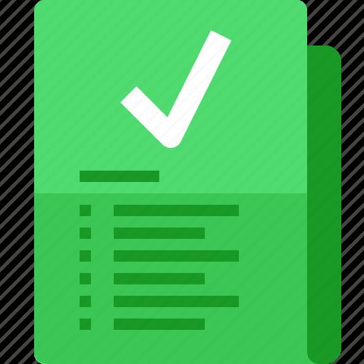 checked, correct, file, folder, list, to do list, yumminky icon