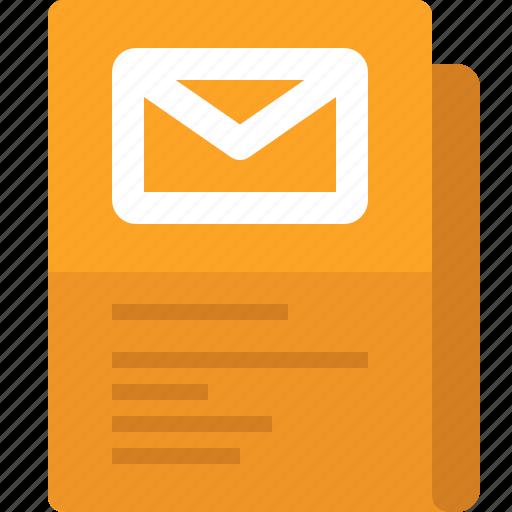 communication, document, file, folder, mail, message, yumminky icon