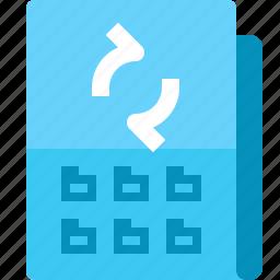 document, file, folder, refresh, reload, update, yumminky icon