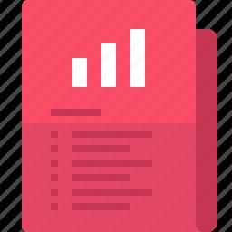 chart, document, file, folder, graph, yumminky icon