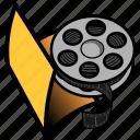 folder, video, film, media, movie, multimedia