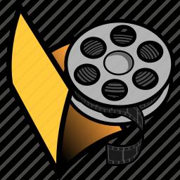 film, folder, media, movie, multimedia, video icon