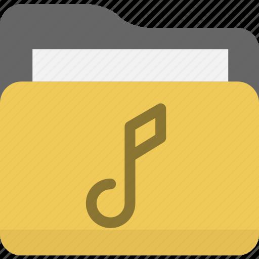 audio, folder, multimedia, music icon