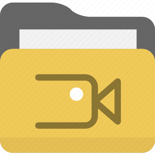 archives, folder, movie, multimedia, video icon